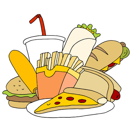 An image of fast food items.