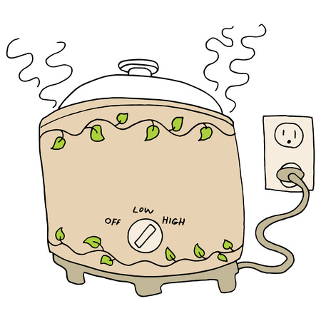 Obraz powolnego puli kuchenka.