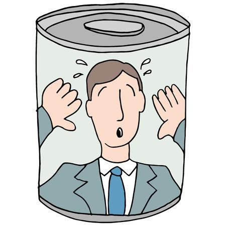缶詰の従業員のイメージ。