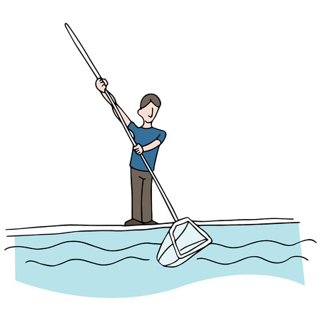 An image of a pool cleaner. Vector