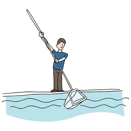 dienstverlening: Een afbeelding van een pool cleaner.