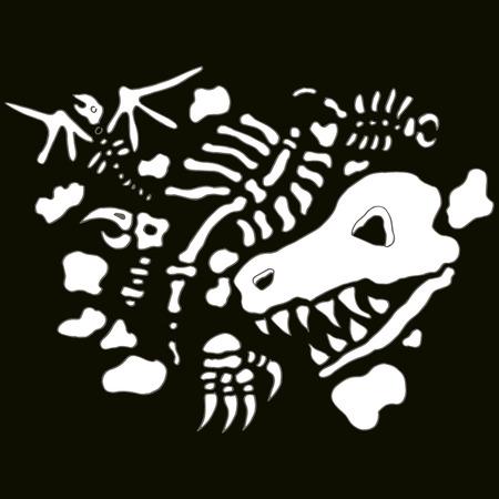 An image of underground fossils. Иллюстрация