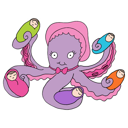 caring for: An image of an octopus baby nanny.