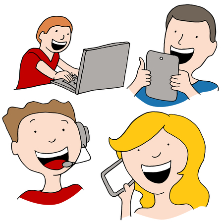 An image of digital communication. Vector