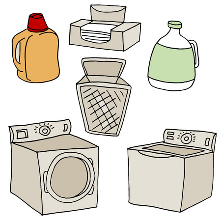 An image of  laundry set. Vector