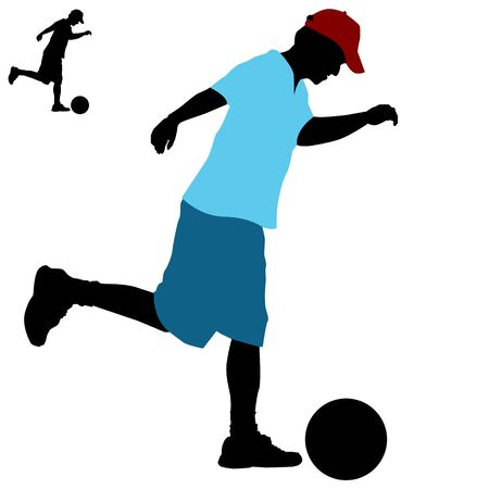 An image of a man kicking a ball.