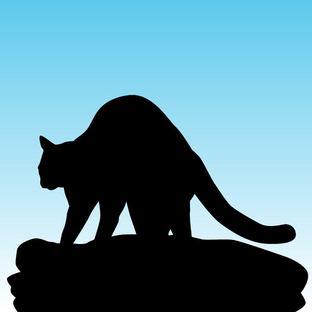 kneading: An image of a cat kneading on a blanket. Illustration