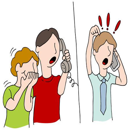 An image of a crank call practical joke.