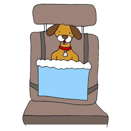 booster: Une image d'un si�ge de voiture pour chien.