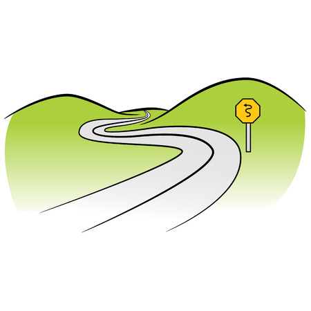 curved road: a curved road.