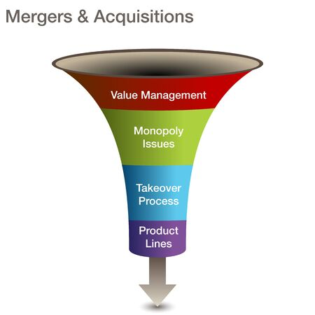 a mergers and acquisitions 3d chart. Vector