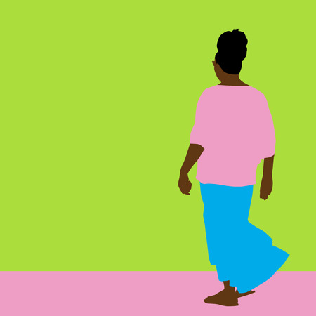 An image of a woman with a flowing skirt  Vector