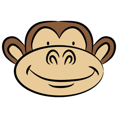 primate: An image of a monkey face