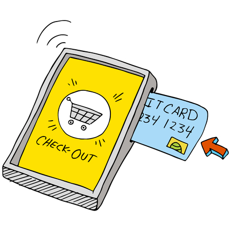 using smartphone: An image of a smart phone wireless purchase. Illustration