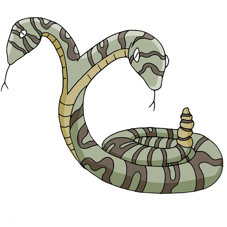conjoined: An image of a two-headed snake.