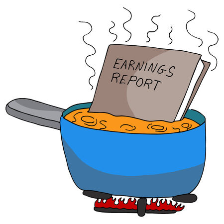 fraudulent: An image of cooking the books.