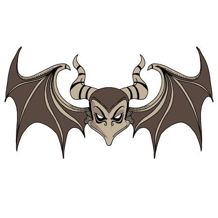 devilish: An image of a devil bat character.
