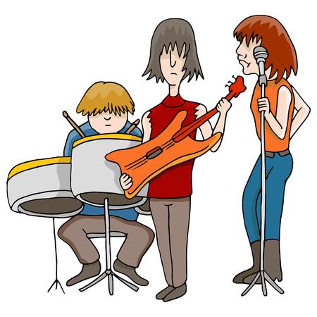 Een beeld van een muzikale band.
