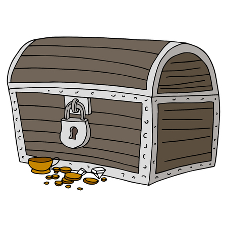An image of a treasure chest. Illustration