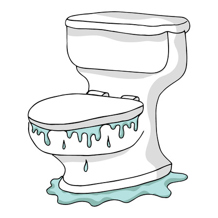 inodoro: Una imagen de un inodoro inundado.