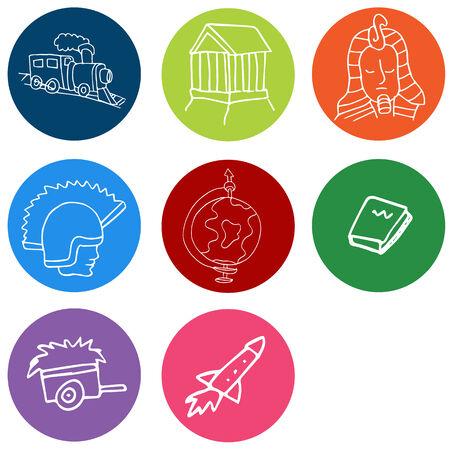 An image of history symbols.