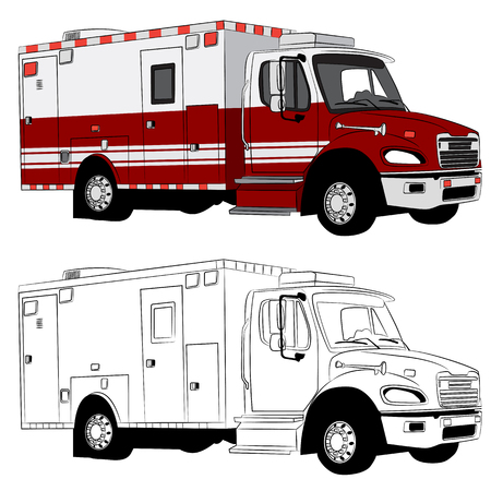 An image of a paramedic vehicle. Vector