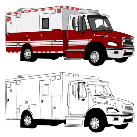 Una imagen de un vehículo paramédico.