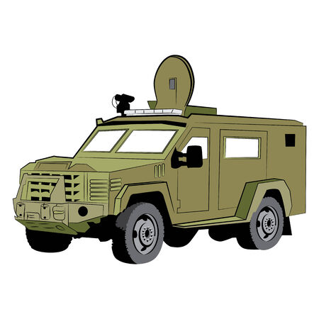 An image of an armored police vehicle.