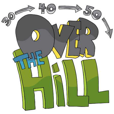 40: An image of over the hill text.