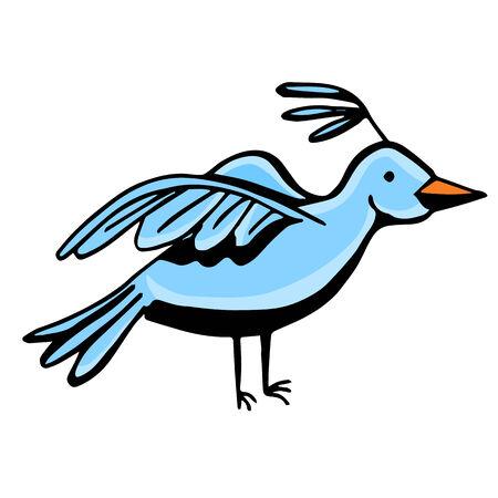 An image of a blue bird. Иллюстрация