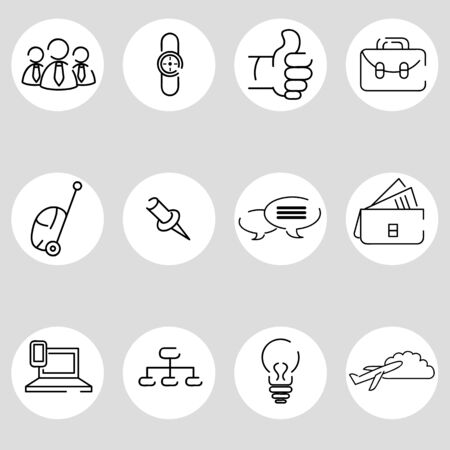An image of a business icon set. Vector