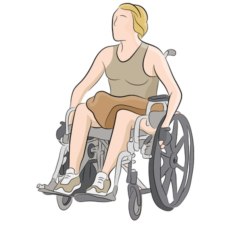 An image of a disabled woman in a wheelchair.