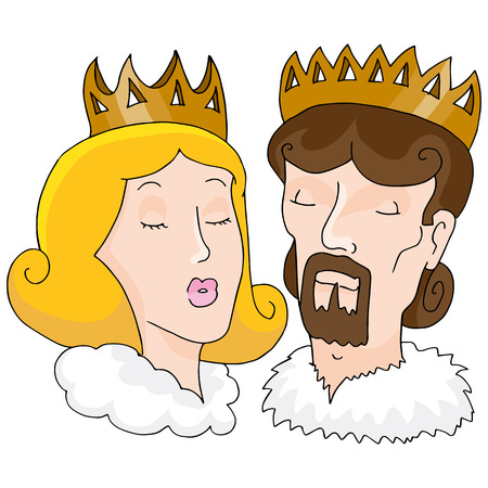royal wedding: An image of a king and queen.