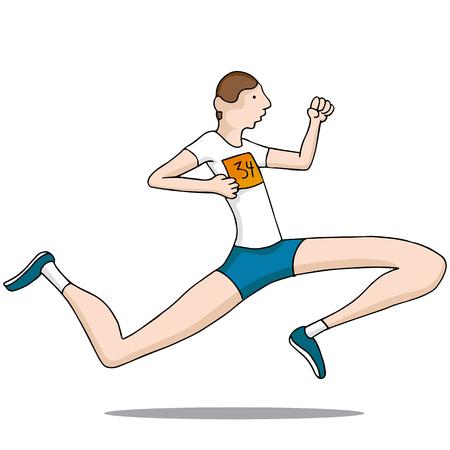 legged: An image of a long legged runner.