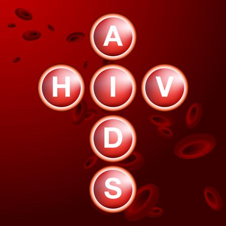 vih sida: Una imagen de un fondo de gl�bulos vih ayuda. Vectores