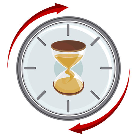 An image of an hourglass timer. Illustration
