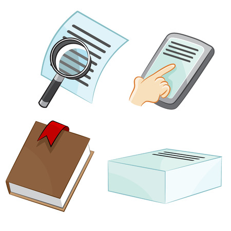 touchpad: An image of document icons. Illustration