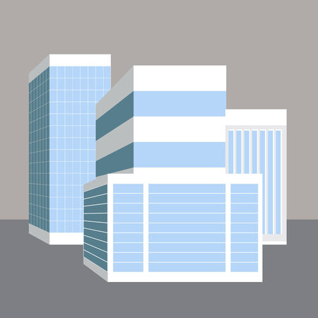 high rise: An image of 3d business buildings.