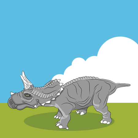 frill: An image of a Triceratops dinosaur profile.