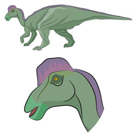 spines: An image of a Hypacrosaurus dinosaur.