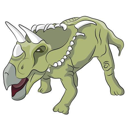 An image of Kosmoceratops dinosaur. Ilustração