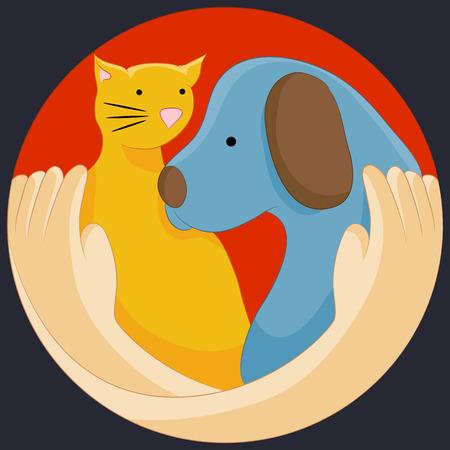 動物の権利保護シンボルのイメージ。
