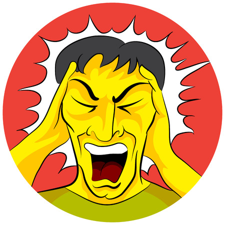 emotional pain: An image of a screaming man.