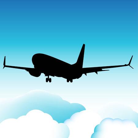 plane landing: An image of a landing plane.