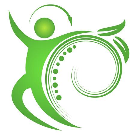 buchr�cken: Ein Bild von einer Wirbels�ule fit Mann. Illustration