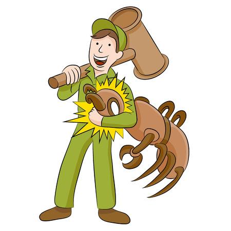 exterminator: An image of a termite exterminator.