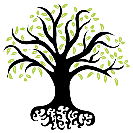 An image of a wellness tree. Vector