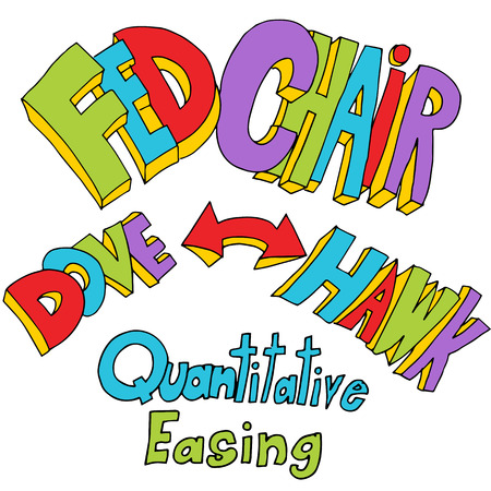 easing: An image of quantitative easing text.