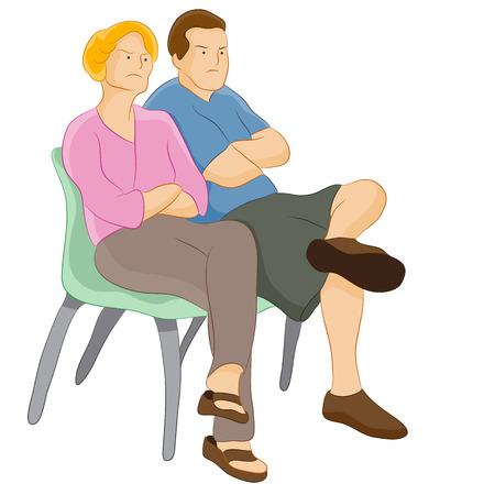 pareja enojada: padres de juicio enojados.