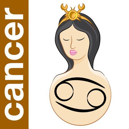 a horoscope zodiac symbol for cancer. Vector
